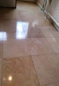Shine and Lustre restored to a Limestone Tiled Floor Witham