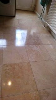 Limestone tiles after cleaning Witham