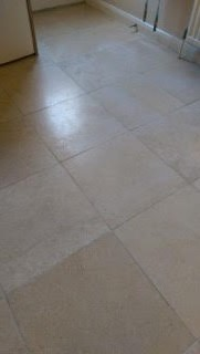 Limestone tiles before cleaning Witham