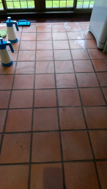 Terracotta Tiled Kitchen Replacement in Willingale After