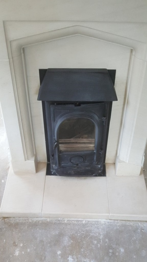 Limestone Fireplace After Flood Stain Removal Chelmsford