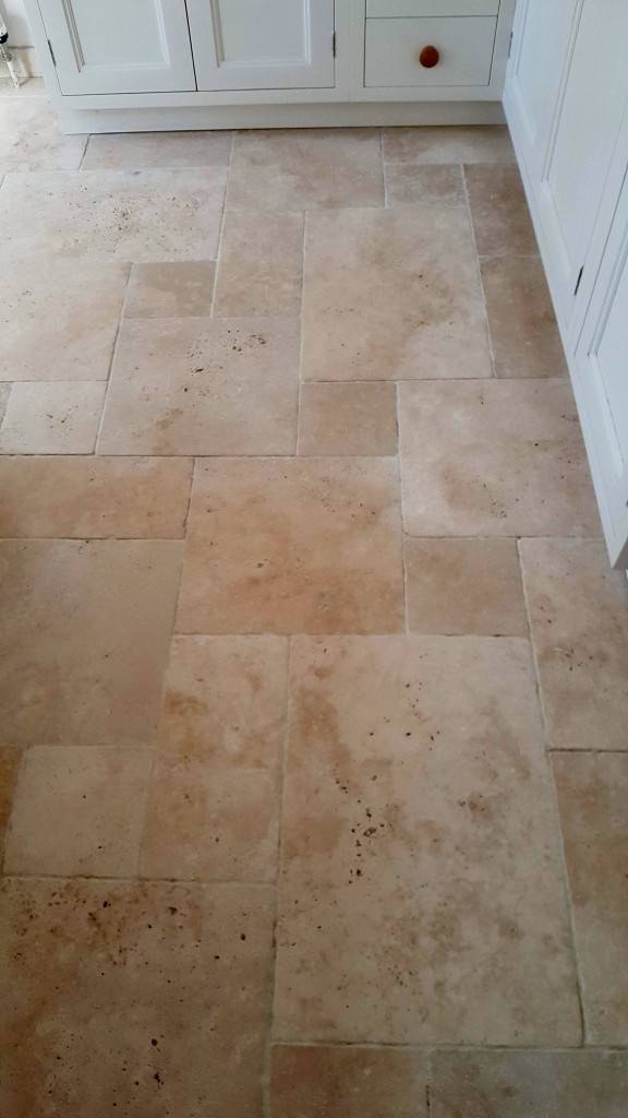 Tumbled Travertine After Cleaning Saffron Walden