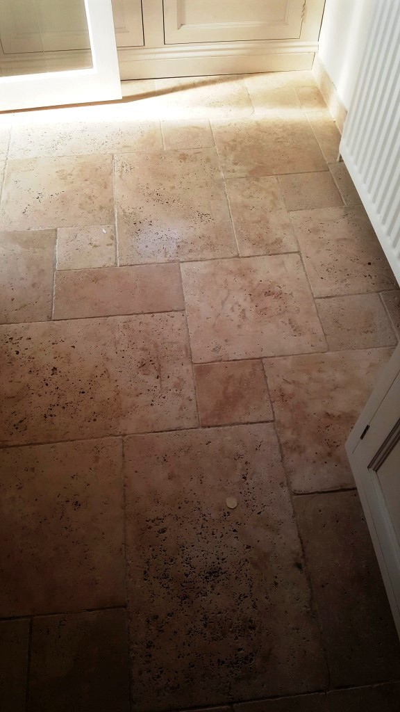 Tumbled Travertine Before Cleaning Saffron Walden